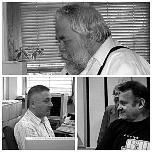 od góry: Wojciech Hawryszuk czyli Baca, Jacek Bukianiec, Marek Żurawski