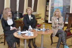 prowadzące spotkanie Anna Kolmer i Helena Kwiatkowska wraz z Wiesławą Markiewicz (2)
