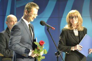 Leszek Sagan i Anna Kolmer, z tyłu - Marek Rudnicki