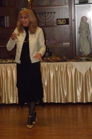 """Spotkanie noworoczne dziennikarzy 05.02.2016, na zdjęciu: przewodnicząca SDRP """"Pomorze Zachodnie"""" Anna Kolmer"""