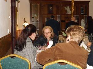 Spotkanie noworoczne dziennikarzy 05.02.2016, na zdjęciu: Małgorzata Furga, Iwona Poczopko, Dorota Zamolska, Maria Okulicz
