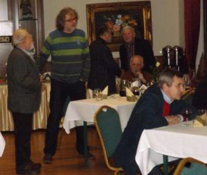 Spotkanie noworoczne dziennikarzy 05.02.2016, na zdjęciu: Marek Osajda, Janusz Ławrynowicz, Wojtek Tyrmanowski