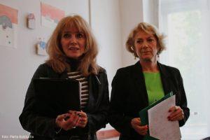 Anna Kolmer i Helena Kwiatkowska - prowadzące spotkanie