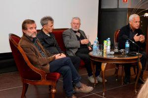 zaproszeni KOR-owcy, od lewej: Mirosław Witkowski, Marek Adamkiewicz, Józef Gawłowicz, Michał Paziewski