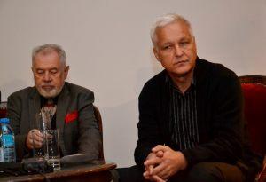 od lewej: Józef Gawłowicz,  historyk dr Michał Paziewski