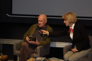 Spotkanie z Markiem Czasnojć, od lewej: Marek Czasnojć, Helena Kwiatkowska