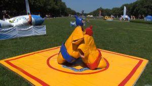 aktywne zabawy dla najmłodszych - tak prezentowały się niektóre organizacje pozarządowe na XV Spotkaniach pod Platanami